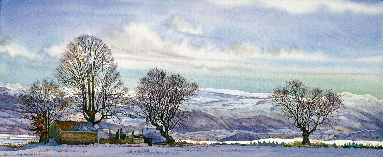 Neige dans la haute vallée de la Durance