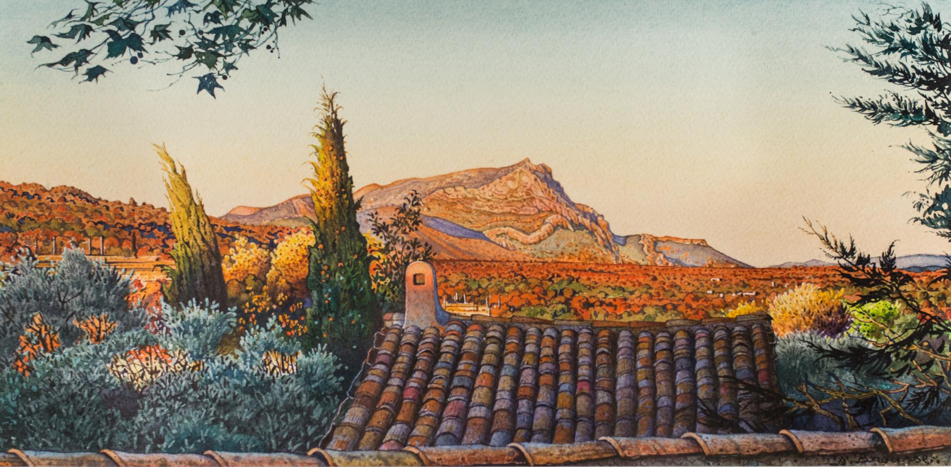 Soir d'automne à Sainte-Victoire