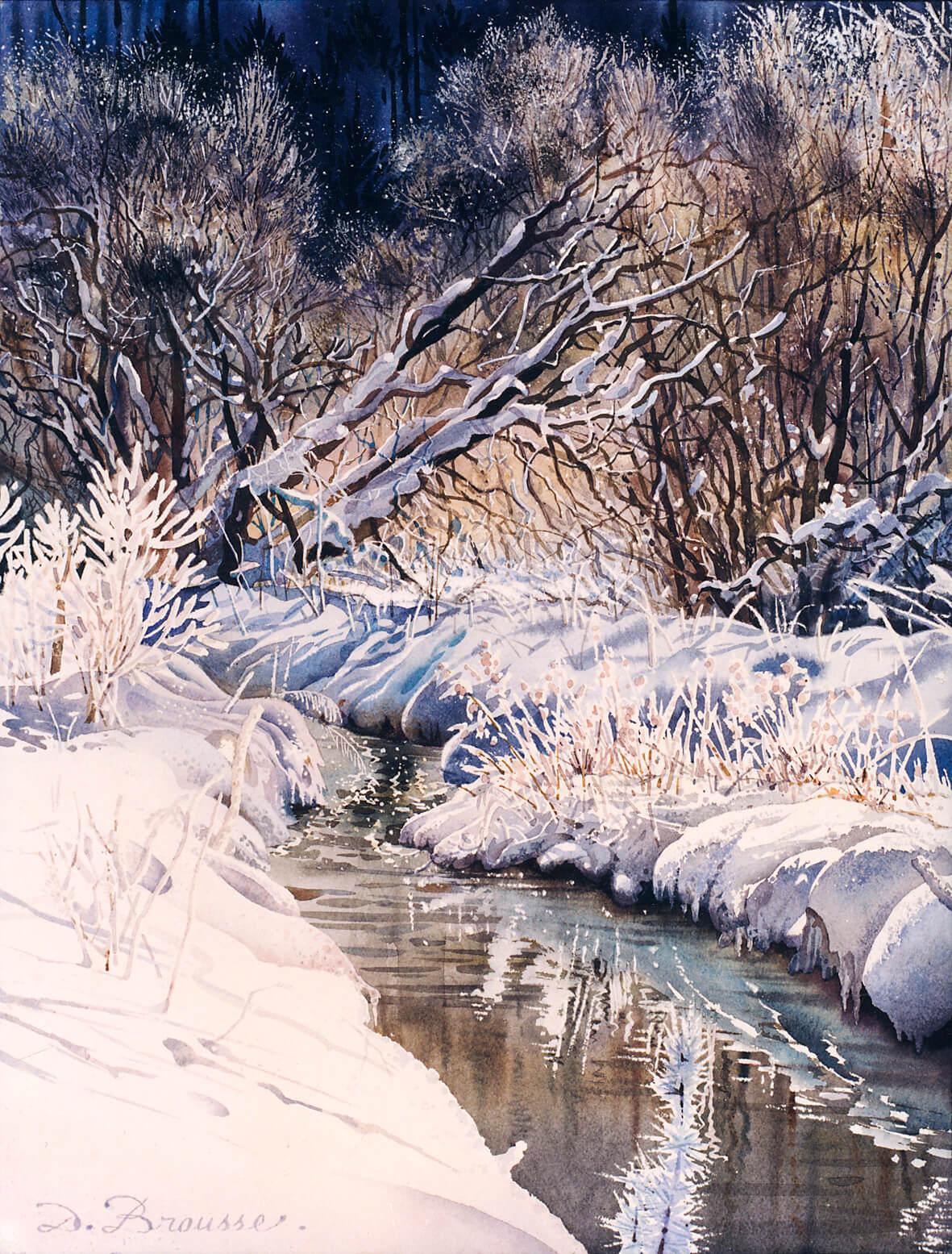 Rivière en hiver